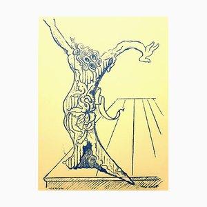 Max Ernst (nachher) - Lebender Baum - Lithografie 1959