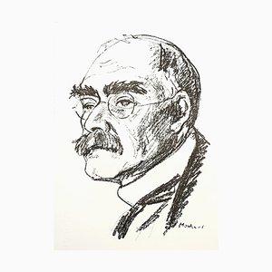 Maurice Mourlot - Portrait - Original Lithograph 1956