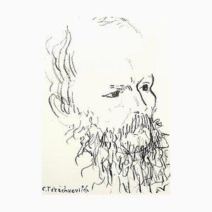 Constantin Terechkovitch - Portrait - Original Lithograph 1957
