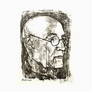 Lithographie André Margaux - Portrait Original 1955