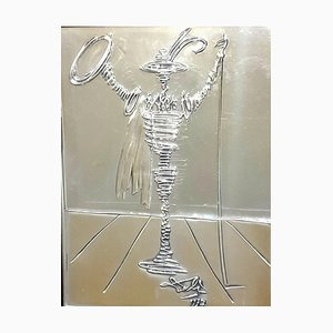 Salvador Dali - Spanish Knight - Bas Relief Silver Sculpture 1977