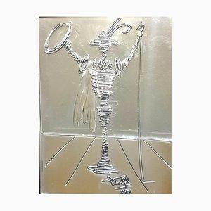 Scultura Salvador Dali - Spanish Knight - Bas Relief in argento, 1977