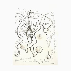 Jean Cocteau - Parametabolismus - Original Lithographie von 1956