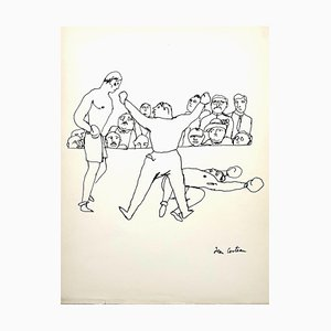 Jean Cocteau - The Fight - Original Signed Drawing 1923