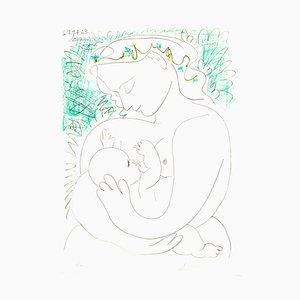 Dopo Pablo Picasso - Litografia computerizzata - Maternità 1963