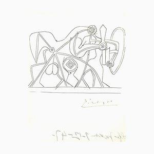 Sérigraphie originale de Pablo Picasso - The Knight, 1948