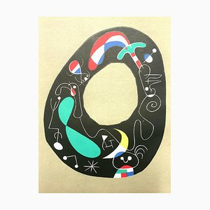 Lithographie Joan Miro - The Magic Stone - Lithographie Originale 1956