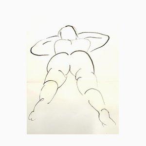 Jean Cocteau - Jeune Femme - Dessin Original Circa 1912