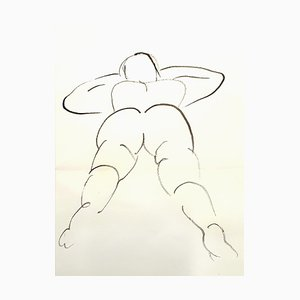 Jean Cocteau - Young Woman - Original Drawing Circa 1912