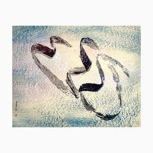 Lithographie 1957 par Jean Fautrier - Annabelle Nue