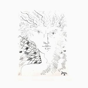 Aguafuerte original Jean Cocteau - Portrait - 1946