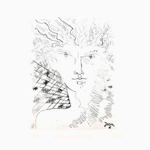 Jean Cocteau - Porträt - Original Radierung 1946