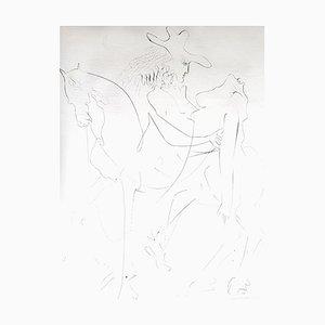 Salvador Dali - The Kidnapping - Gravure à l'Eau-Forte sur Soie 1968
