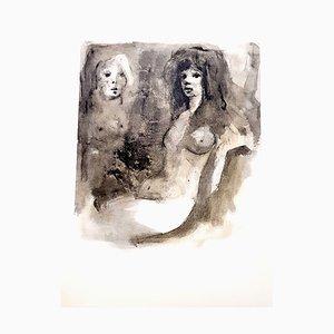 Lithographie Leonor Fini - Young Beauty - Lithographie Originale, 1964