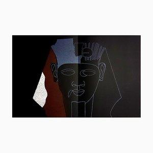 Lithographie Eduardo Arroyo - Sphinx - Original 1984