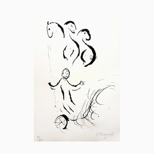 Marc Chagall - The Great Bible - Signierte Originale Lithographie von 1956
