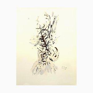 (después) Mark Tobey - Composition - Pochoir 1959