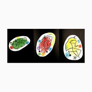 Joan Miro - Trio - Original Colorful Lithografie von 1968