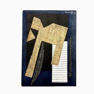(después) Alberto Magnelli - Composition - Pochoir 1957
