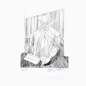 Jacques Villon - Man - Original Etching 1951