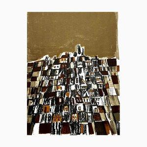 Maria Elena Vieira da Silva - Spanische Stadt - Original Lithographie 1966