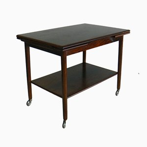 Extendable Rosewood Tea Trolley from Svensborg