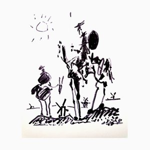 After Pablo Picasso - Don Quixote - Lithograph 1955