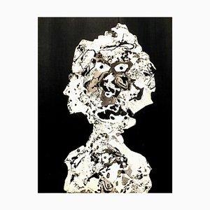 segun Jean Dubuffet - Woman - Pochoir 1956