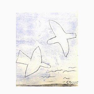d'après Georges Braque - Oiseaux - Pochoir 1958