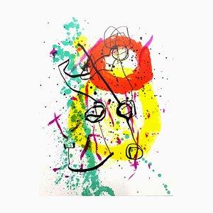 Litografia Joan Miro - Original Colorful 1961