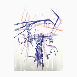 Lithographie Wifredo Lam - Knight - Lithographie Originale 1963