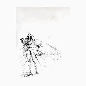 Salvador Dali - The Fisherman - Gravure à l'Eau-Forte sur Soie 1968