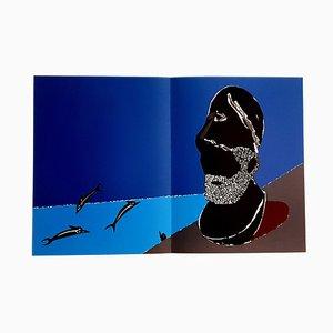 Lithographie Eduardo Arroyo - Greek Homage - Original 1984
