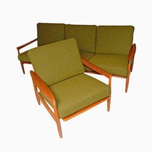 mobilier de salon kolding par erik wrts pour ikea 1962 - Table De Salle A Manger Ikea1962