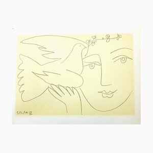 (nachher) Pablo Picasso - Face of Peace - Lithografie 1951