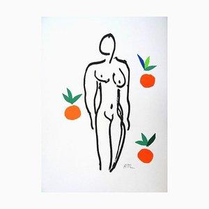 d'après Henri Matisse - Nude With Oranges - Lithographie