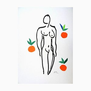 nach Henri Matisse - Akt mit Orangen - Lithographie