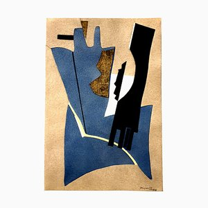 (nachher) Alberto Magnelli - Composition - Pochoir 1956