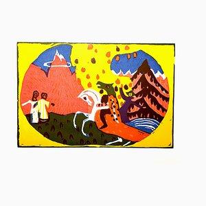 Gravure à l'Eau-Forte Wassily Kandinsky - Horse Knight - 1966
