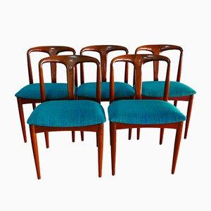 Juliane Esszimmerstühle von Johannes Andersen für Uldum Mobelfabrik, 5er Set