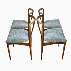 Juliane Esszimmerstühle von Johannes Andersen für Uldum Mobelfabrik, 4er Set