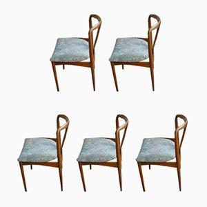 Juliane Chairs by Johannes Andersen for Uldum Mobelfabrik, Set of 5