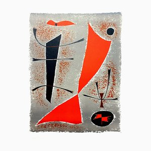 Gustave Singier - Abstract Fish - Original Lithografie 1955