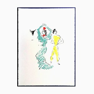 Lithographie Jean Cocteau - The Flamenco Dancer - 1961