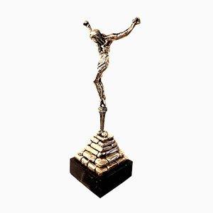 Dali - '' Cristo de San Juan de la Cruz '' - Escultura firmada de plata maciza, 1974