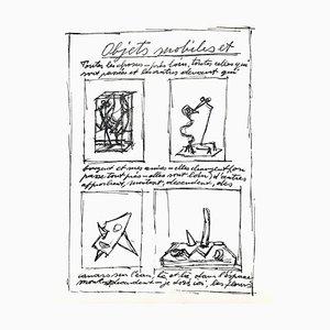 Litografia originale Alberto Giacometti, 1952
