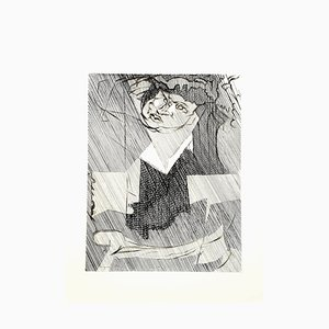 Jacques Villon - Cubist Man - Original Etching 1951