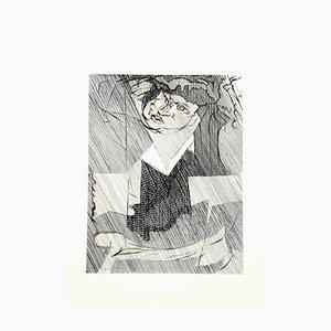Jacques Villon - Cubist Man - Original Radierung 1951