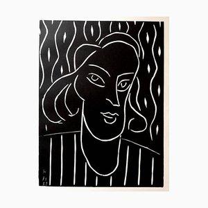 Linograbado original - Henri Matisse - Teeny 1938