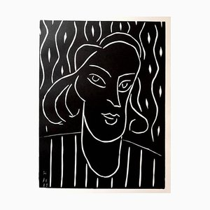 Original Linocut - Henri Matisse - Teeny 1938